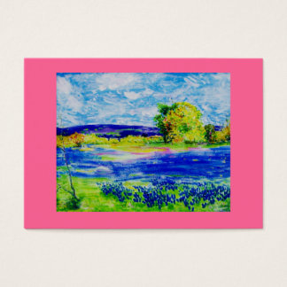 bluebonnet  wildflowers business card