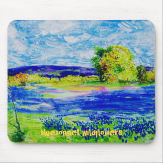 bluebonnet  wildflowers mouse pad