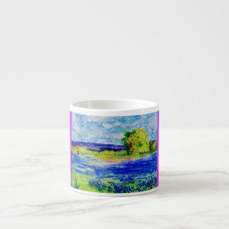 bluebonnet wildflowers espresso mug
