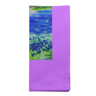 bluebonnet wildflowers napkins