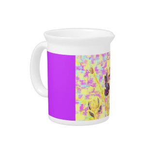 bluebonnet wildflowers drink pitcher