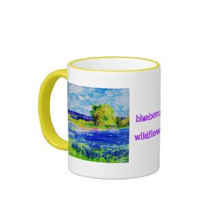 bluebonnet wildflowers(slogan) coffee mug