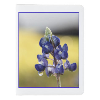 Bluebonnet with Dewdrops Notebook