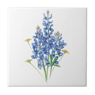 Bluebonnets and Wildflowers Ceramic Tile