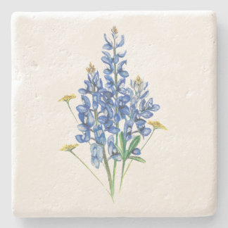 Bluebonnets and Wildflowers Stone Coaster