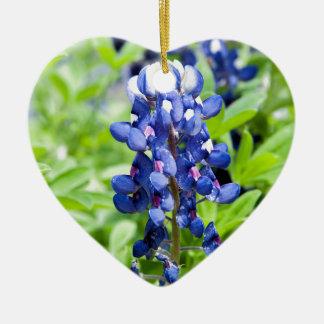 Bluebonnets Ceramic Heart Decoration