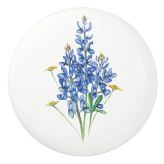 Bluebonnets Ceramic Knob