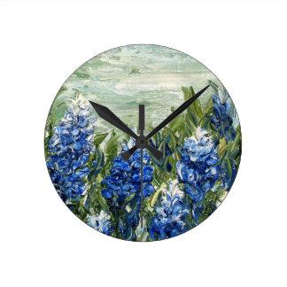 Bluebonnets Wall Clocks