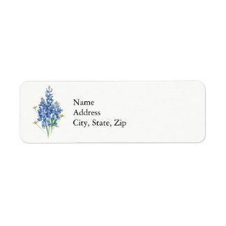 Bluebonnets Return Address Label