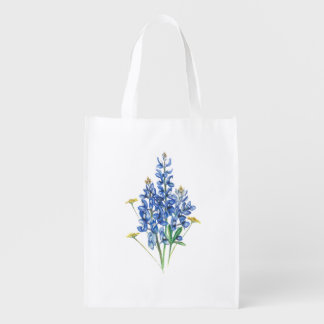 Bluebonnets Reusable Grocery Bag