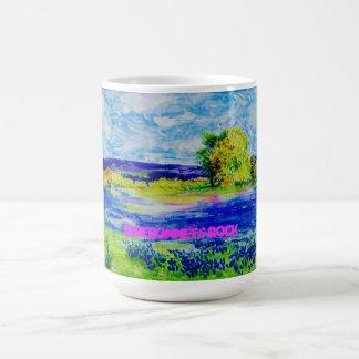 bluebonnets rock basic white mug