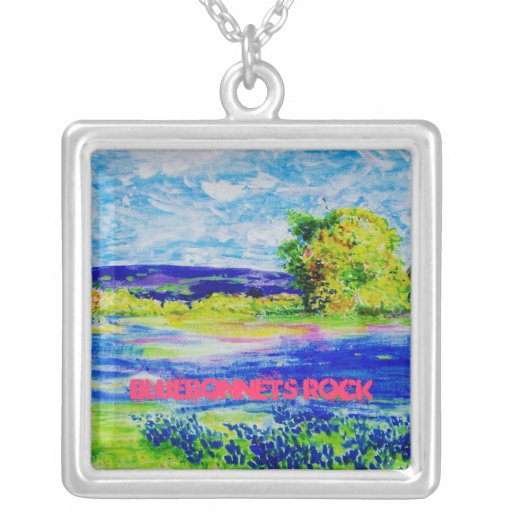 Bluebonnets Rock Necklaces