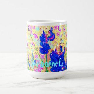 bluebonnets upclose basic white mug