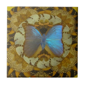BlueButterfly Small Square Tile