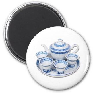 BlueChinaTeapot071410 6 Cm Round Magnet