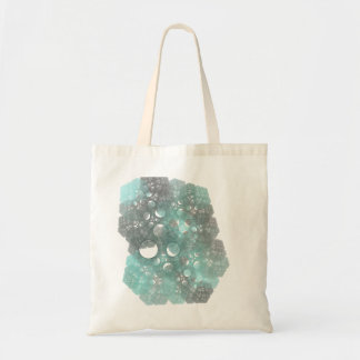 BlueFall Abstract Fractal Design Budget Tote Bag