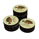 Bluegill, Bream Fishing Poker Chips Set