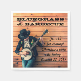 Bluegrass and Barbecue Party Paper Napkins Paper Napkin