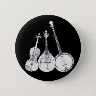 Bluegrass Band B&W 6 Cm Round Badge