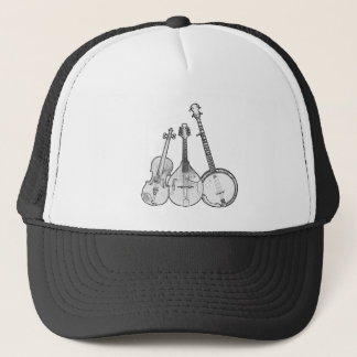 Bluegrass Band B&W Trucker Hat