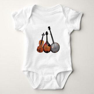 Bluegrass Band Cartoon Baby Bodysuit