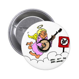 Bluegrass Banjo Humor 6 Cm Round Badge