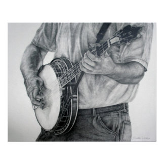 Bluegrass Banjo Poster