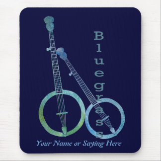 Bluegrass Banjos Mouse Pad