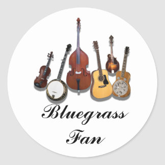 BLUEGRASS FAN-STICKER CLASSIC ROUND STICKER