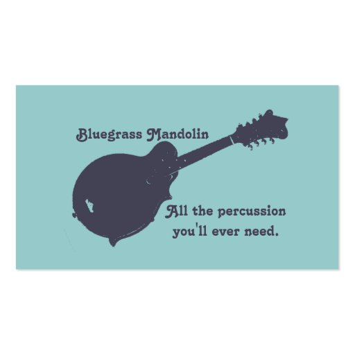 Bluegrass Mandolin - All the Percussion You Need Pack Of Standard Business Cards
