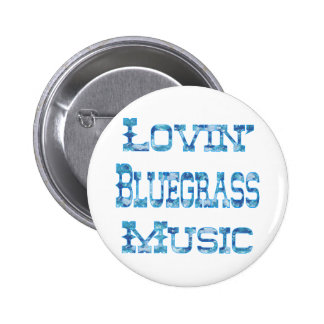 Bluegrass Music 6 Cm Round Badge