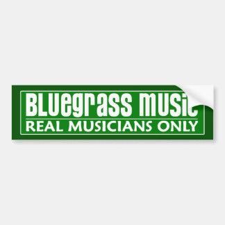 Bluegrass Music Bumper Sticker