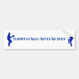 BLUEGRASS MUSIC-BUMPER STICKER