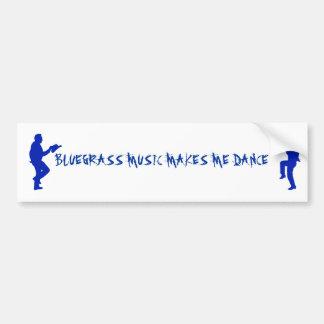 BLUEGRASS MUSIC-BUMPER STICKER BUMPER STICKER