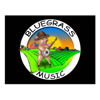 Bluegrass Music Postcard