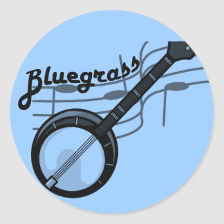 Bluegrass music with banjo stickers