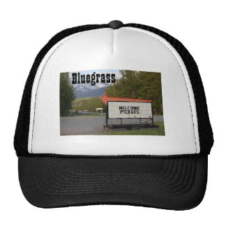 """Bluegrass...WELCOME PICKERS"" Trucker Hat - adjust"