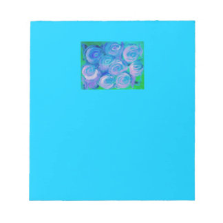 BlueGreen Rose Memo Notepads