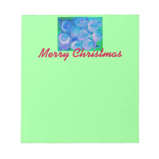 BlueGreen Rose Memo Note Pads