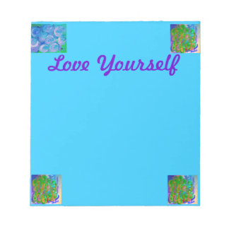 BlueGreen Rose Memo Notepad