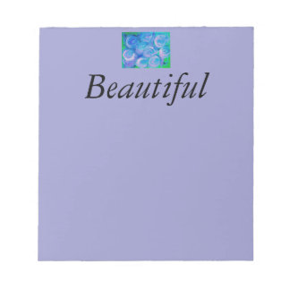 BlueGreen Rose Scratch Pad