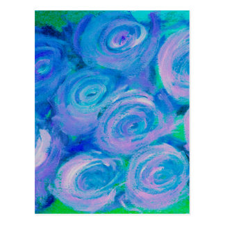 BlueGreen Rose Postcard