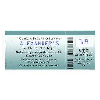 BlueGreen Ticket Invitations