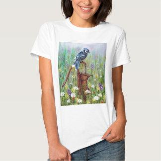 Bluejay: Peaceful Perch T-shirt