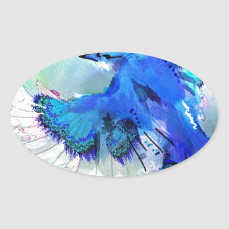 BlueJay Swaylrg Oval Sticker