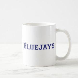 Bluejays square logo in blue coffee mug