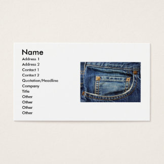 Bluejeans Business Card