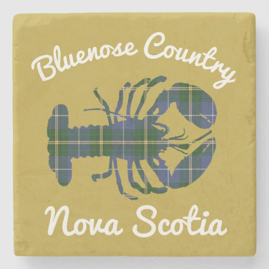 Bluenose Country N.S.Tartan Lobster coaster marble Stone Coaster