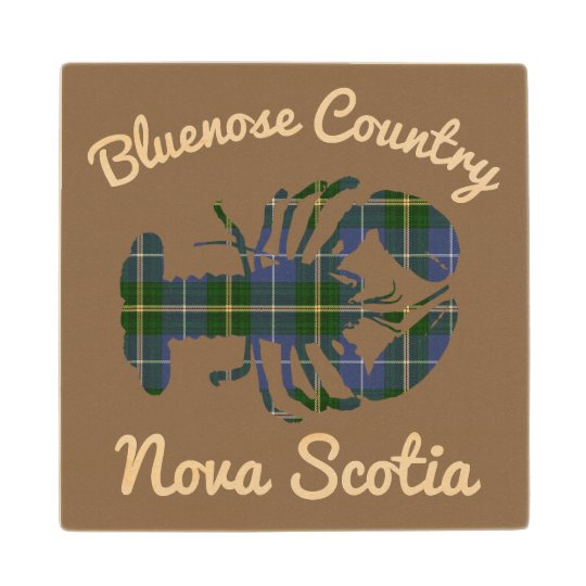 Bluenose Country N.S. Tartan Lobster  coaster wood Wood Coaster