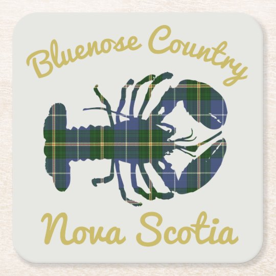 Bluenose Country N.S. Tartan Lobster party coaster